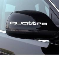 アウディ ステッカー quattro 2個入 ドアミラー Audi A1 A3 A4 A6 A6L A7 A8 Q3 Q5 Q7 TT S RS h00383