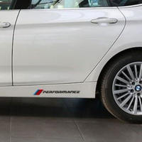 BMW ステッカー デカール ペア Mパフォーマンス ロゴ サイドスカート X1 X3 X5 X6 3 5 7 Series e90 e46 e39 e60 f30 f10 h00063