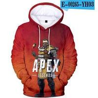 Apex  Legends エーペックスレジェンズ 伝説 3Dデザイン パーカー  ユニセックス カジュアル 長袖 スウェット トップス  25