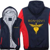 高品質  ボンジョビ Bon Jovi   あったかい フリースパーカー ジップアップ  衣装 コスチューム 小道具 海外限定  コスプレ  7