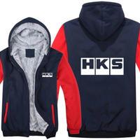 高品質  HKS エッチケーエス   あったかい フリースパーカー ジップアップ  衣装 コスチューム 小道具 海外限定