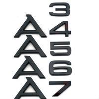 アウディ ステッカー A3 A4 A5 A6 A7 TT ブラック バッジ  リア ボディ エンブレム Audi h00360
