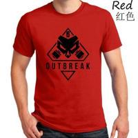 レインボーシックス シージ  ゲーム Outbreak ロゴ Tシャツ Tom Clancy's Rainbow Six Siege ユニセックス R6S シージグッズ 5