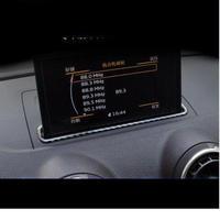アウディ カーナビカバー リアルカーボンファイバー Audi A3 インテリア 装飾 h00302