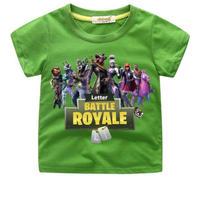 フォートナイト fortnite 子供服  プリントTシャツ ユニセックス カジュアル半袖Tシャツ トップス  グリーン