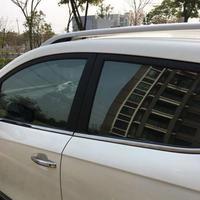 スモークフィルム ライトブラック 窓 サイド ガラスウィンドウ ソーラープロテクト 断熱 h00176