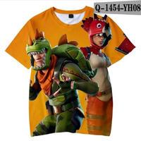 フォートナイト fortnite 子供服  3Dデザイン Tシャツ ユニセックス カジュアル半袖Tシャツ トップス  バトルロワイヤル  12