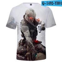 レインボーシックス シージ  ゲーミング 3Dプリント Tシャツ  半袖   Tom Clancy's Rainbow Six Siege R6S シージグッズ  1492