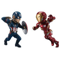 マーベル バンプレスト  Captain America: Civil War World Collectible Figure - Captain America & Iron Man Set