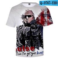 レインボーシックス シージ  ゲーミング 3Dプリント Tシャツ  半袖   Tom Clancy's Rainbow Six Siege R6S シージグッズ  o767