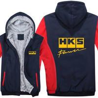高品質  HKS エッチケーエス   あったかい フリースパーカー ジップアップ  衣装 コスチューム 小道具 海外限定 10