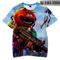 フォートナイト fortnite 子供服  3Dデザイン Tシャツ ユニセックス カジュアル半袖Tシャツ トップス  バトルロワイヤル  14