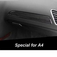 アウディ センターコンソール カバー リアルカーボンファイバー A4 インテリア 装飾 h00299