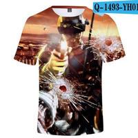 レインボーシックス シージ  ゲーミング 3Dプリント Tシャツ  半袖   Tom Clancy's Rainbow Six Siege R6S シージグッズ  1493
