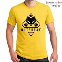 レインボーシックス シージ  ゲーム Outbreak ロゴ Tシャツ Tom Clancy's Rainbow Six Siege ユニセックス R6S シージグッズ 8