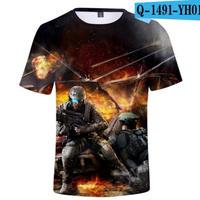 レインボーシックス シージ  ゲーミング 3Dプリント Tシャツ  半袖   Tom Clancy's Rainbow Six Siege R6S シージグッズ  1491