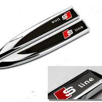 アウディ バッジ 2個入 Sline Audi A6 A5 A7 A3 A4 Q3 Q5 S4 S6 S8 TT サイド ステッカー h00357