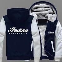 高品質 インディアンモーターサイクル あったかいフード ジップ フリースパーカー 仮装 衣装 コスチューム 小道具 海外限定  Indian Motorcycle  4