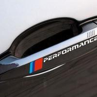 BMW ステッカー デカール 4個入り ドアハンドル パフォーマンス f30 f34 f10 e46 e39 e60 e90 e70 e71 x5 x6 h00061