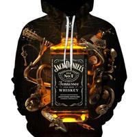 ジャック ダニエル   3Dデザイン  パーカー  スウェット ユニセックス  ウイスキー ブランデー Jack Daniel's  3