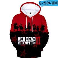 レッド・デッド・リデンプション2 コスプレ パーカー 3Dデザイン  Red Dead Redemption 2 logo ロゴ 風 パーカー コート ジャケット 長袖 男女兼用  5