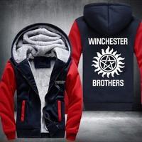 送料無料 高品質 スーパーナチュラル ウィンチェスター兄弟 パーカー  フリース  スウェット   ウール ライナー ジャケット Supernatural 海外限定 2