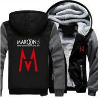 高品質 MAROON 5 マルーンファイブ  あったかいフード ジップ フリースパーカー 仮装 衣装 コスチューム 小道具 海外限定 3