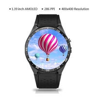 【4カラー】スマートウォッチ KW88 Android5.1搭載 スマートブレスレット アンドロイド 丸形 腕時計 スマートフォン スマホ