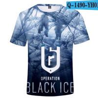 レインボーシックス シージ  ゲーミング 3Dプリント Tシャツ  半袖   Tom Clancy's Rainbow Six Siege R6S シージグッズ  1490