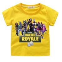 フォートナイト fortnite 子供服  プリントTシャツ ユニセックス カジュアル半袖Tシャツ トップス  イエロー