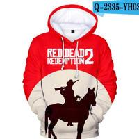 レッド・デッド・リデンプション2 コスプレ パーカー 3Dデザイン  Red Dead Redemption 2 logo ロゴ 風 パーカー コート ジャケット 長袖 男女兼用
