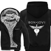 高品質  ボンジョビ Bon Jovi   あったかい フリースパーカー ジップアップ  衣装 コスチューム 小道具 海外限定  コスプレ  5