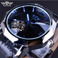 T-WINNER スケルトンダイヤル メンズ腕時計 海外トップブランド 高級自動巻時計 機械式