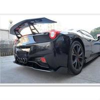 カーボンファイバー リア トランク高スポイラー ウイング用 458 スパイダーベース 2ドア 2011-2013 車 チューニングパーツ h00010