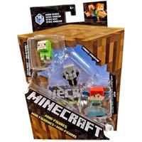 マインクラフト Minecraft マテル Mattel Toys フィギュア おもちゃ Wood Series 10 Green Sheep, Evoker & Alex Mini Figure