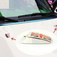 ミニクーパー ステッカー 2個入 合金 MINI Cooper エンブレム R55 R56 R60 R61 h00434