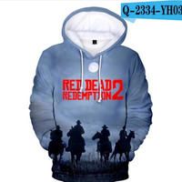 レッド・デッド・リデンプション2 コスプレ パーカー 3Dデザイン  Red Dead Redemption 2 logo ロゴ 風 パーカー コート ジャケット 長袖 男女兼用  10
