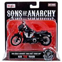"""サン オブ アナーキー Sons of Anarchy マイスト Maisto フィギュア おもちゃ Alex """"Tig"""" Trager Diecast Replica Bike"""
