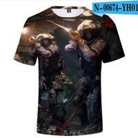 レインボーシックス シージ  ゲーミング 3Dプリント Tシャツ  半袖   Tom Clancy's Rainbow Six Siege R6S シージグッズ  00674