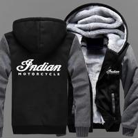高品質 インディアンモーターサイクル あったかいフード ジップ フリースパーカー 仮装 衣装 コスチューム 小道具 海外限定  Indian Motorcycle  3