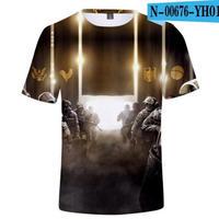 レインボーシックス シージ  ゲーミング 3Dプリント Tシャツ  半袖   Tom Clancy's Rainbow Six Siege R6S シージグッズ  00676