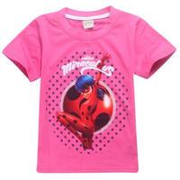 ミラキュラス レディバグ  シャノワール   Tシャツ  マリネット  ピンク 2