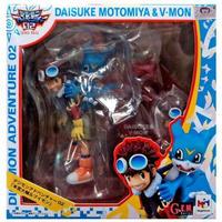 デジモン Digimon メガハウス MegaHouse フィギュア おもちゃ GEM Series Daisuke Motomiya & V-Mon PVC Figure