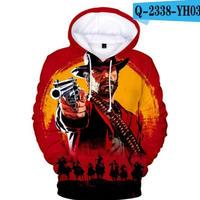 レッド・デッド・リデンプション2 コスプレ パーカー 3Dデザイン  Red Dead Redemption 2 logo ロゴ 風 パーカー コート ジャケット 長袖 男女兼用  4