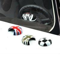 ミニクーパー ハンドル ステアリング カバー BMW mini R55 R56 R60 クラブマン ステッカー h00415