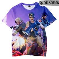フォートナイト fortnite 子供服  3Dデザイン Tシャツ ユニセックス カジュアル半袖Tシャツ トップス  バトルロワイヤル  2