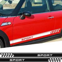 ミニクーパー ステッカー ドアサイド ストライプ カントリーマン R60 Paceman R61 F55 F56 R56 R50 R53 h00151