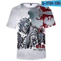 レインボーシックス シージ  ゲーミング 3Dプリント Tシャツ  半袖   Tom Clancy's Rainbow Six Siege R6S シージグッズ  o768