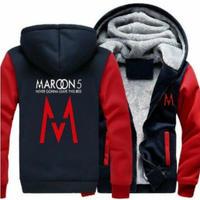 高品質 MAROON 5 マルーンファイブ  あったかいフード ジップ フリースパーカー 仮装 衣装 コスチューム 小道具 海外限定 4