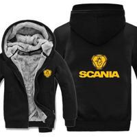 高品質  スカニア SCANIA   あったかい フリースパーカー ジップアップ  衣装 コスチューム 小道具 海外限定 14